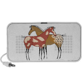 Two Horse Appaloosa & Paint Design iPhone Speaker