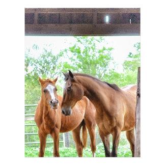 Two horse friends letterhead template