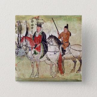Two Horsemen in a Landscape Button