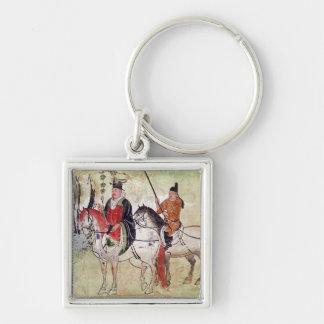 Two Horsemen in a Landscape Keychain