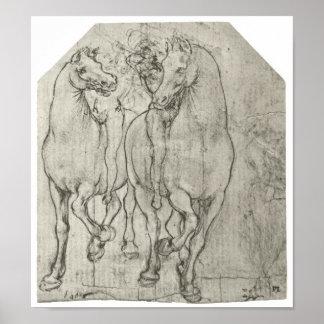 Two Horsemen, Leonardo Da Vinci Poster