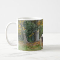 Two horses and a Gypsy wagon mug