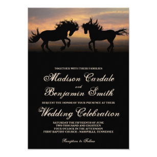 Equestrian Wedding Invitations Zazzle