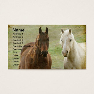 Two Horses Business Card
