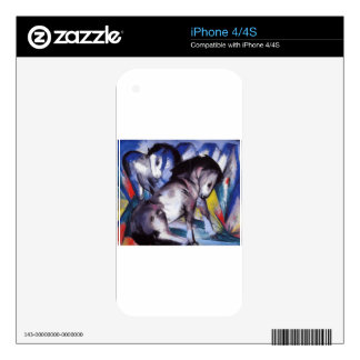 Two Horses by Franz Marc Decals For iPhone 4S