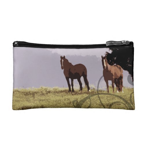 Two Horses Country Makeup Bags