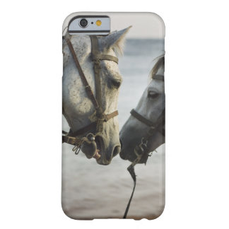 Two horses meeting. barely there iPhone 6 case