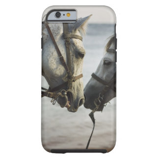 Two horses meeting. tough iPhone 6 case