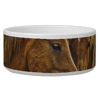 Two horses portrait bowl