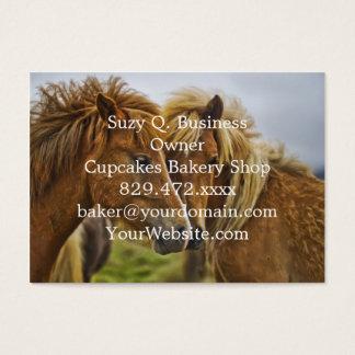 Two horses portrait business card