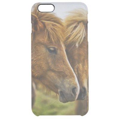 Two horses portrait clear iPhone 6 plus case