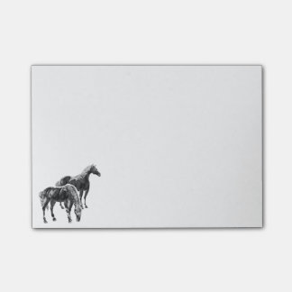 Two horses post-it® notes