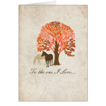 Two Horses Romantic Valentine's Day Card