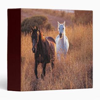 Two Horses Running 3 Ring Binder