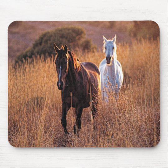 Two Horses Running Mouse Pad