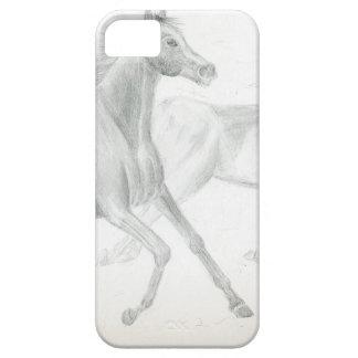 two horses sketch - Gunilla Wachtel iPhone SE/5/5s Case