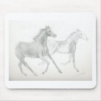 two horses sketch - Gunilla Wachtel Mouse Pad