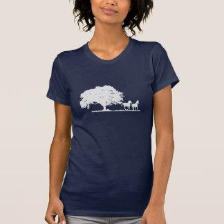 Two horses under large tree T-Shirt