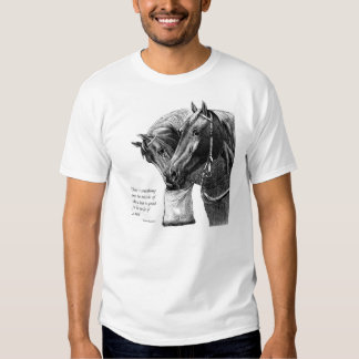 Two Horses with Quote T-shirt