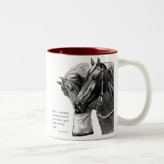 Two Horses with Quote Two-Tone Coffee Mug