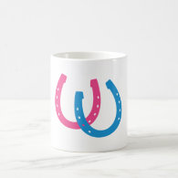 Two Horseshoes Coffee Mugs