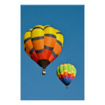 Two Hot Air Balloon Poster