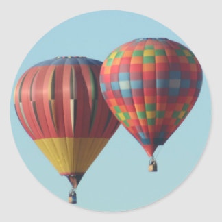 Two Hot Air Balloons Stickers