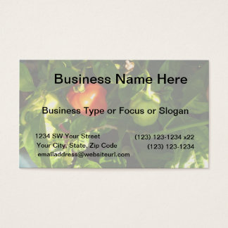 two hot peppers on the plant business card