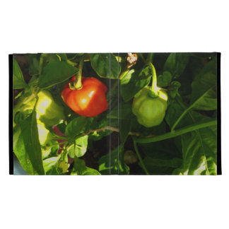 two hot peppers on the plant iPad case