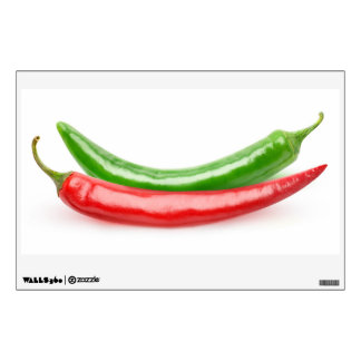 Two hot peppers wall decal