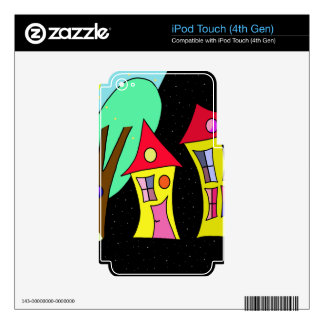 Two houses 2 decal for iPod touch 4G