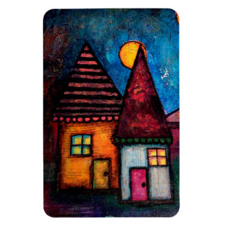 Two Houses Magnet