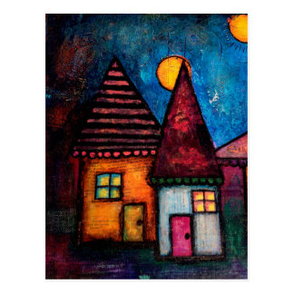 Two Houses Postcard