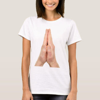 Two Human Palms in Prayer T-Shirt