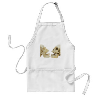 Two human skulls opposite of each other adult apron