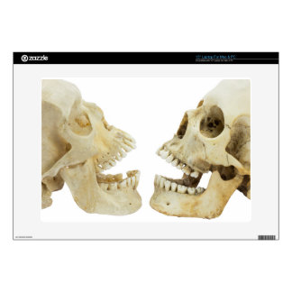 "Two human skulls opposite of each other skin for 15"" laptop"