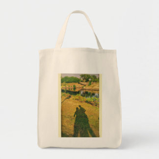 Two human tripods tote bag