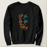 """Two Hummingbirds Embroidered Sweatshirt<br><div class=""""desc"""">Lovely design features two embroidered hummingbirds visiting a flowering vine for nectar. Pretty scene from the garden. A perfect gift idea for her.</div>"""