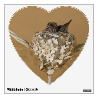 Two Hummingbirds in a Nest Wall Decal
