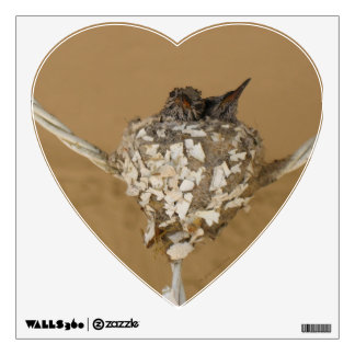 Two Hummingbirds in a Nest Wall Sticker