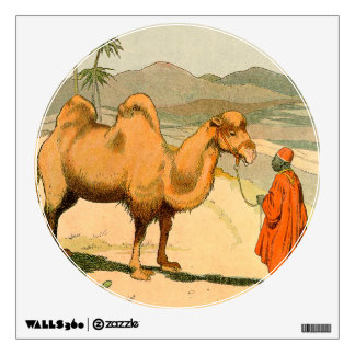 Two-hump Bactrian Camel in the Desert Wall Sticker