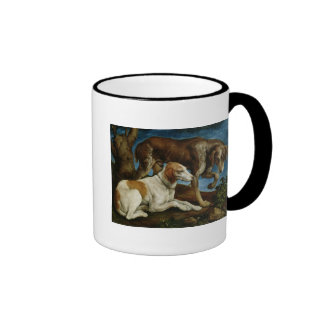 Two Hunting Dogs Tied to a Tree Stump, c.1548-50 Ringer Mug