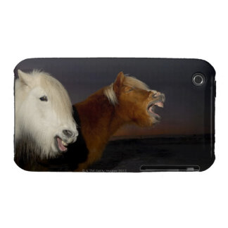 Two Icelandic horses iPhone 3 Cover