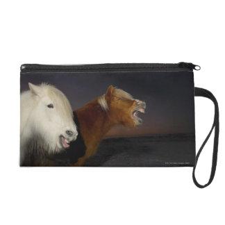 Two Icelandic horses Wristlet Purse