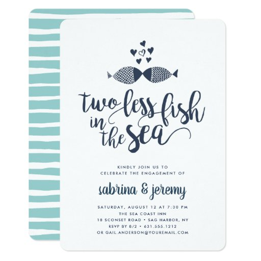 Two if By Sea Engagement Party Invitation