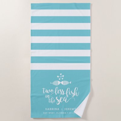 Two if By Sea Personalized Wedding Beach Towel