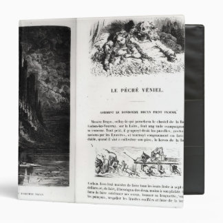 Two illustrated pages of 'Les Contes 3 Ring Binder