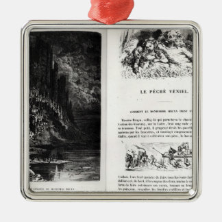 Two illustrated pages of 'Les Contes Metal Ornament