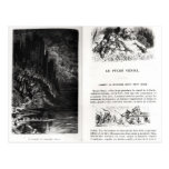 Two illustrated pages of 'Les Contes Post Cards