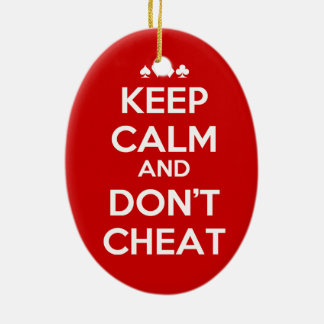 Two Important Rules Double-Sided Oval Ceramic Christmas Ornament